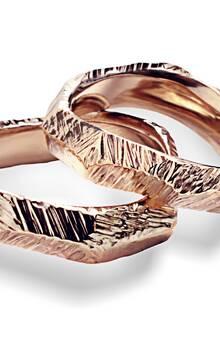 Fedi Matrimoniali Efrem Guidi Oro rosa LGBT community gay Wedding rings Italy Milano Brera  Modello Tigani