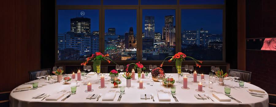 Beispiel: Gedeckte Tafel. Foto: Hugos Restaurant