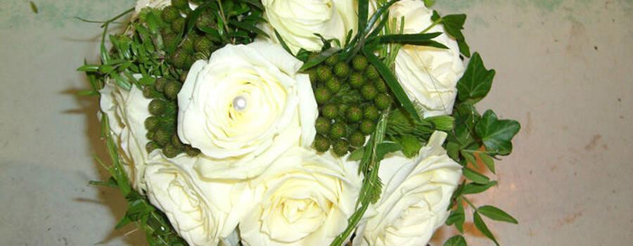 Beispiel: Der Strauß für Ihre Hochzeit, Foto: Blumen G. Bechstein.