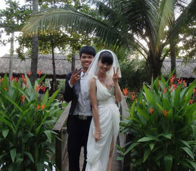 Beispiel: Brautpaar, Foto: Ao Dai Travel.
