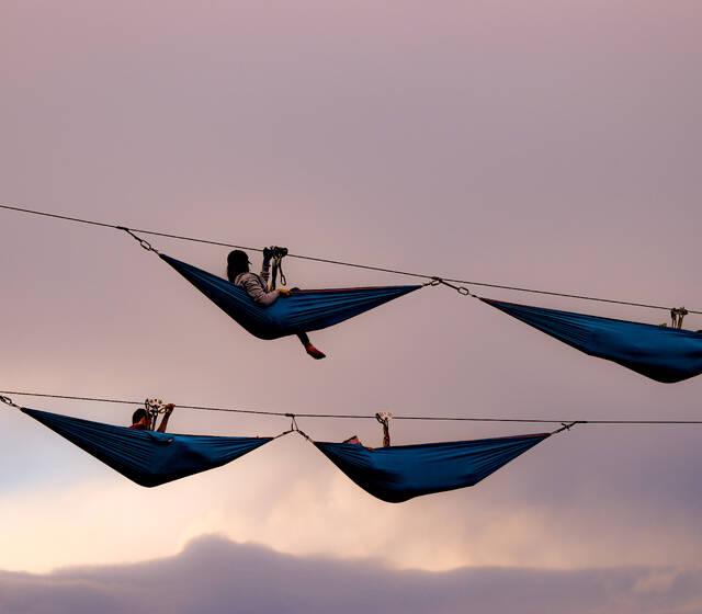 Hamacas en el aire