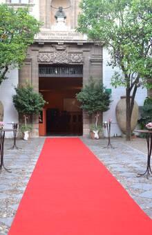 Alfombra roja entrada Patio Exterior
