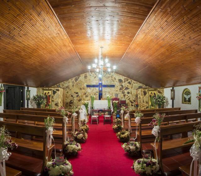 Interior capilla Hacienda El Olimpo
