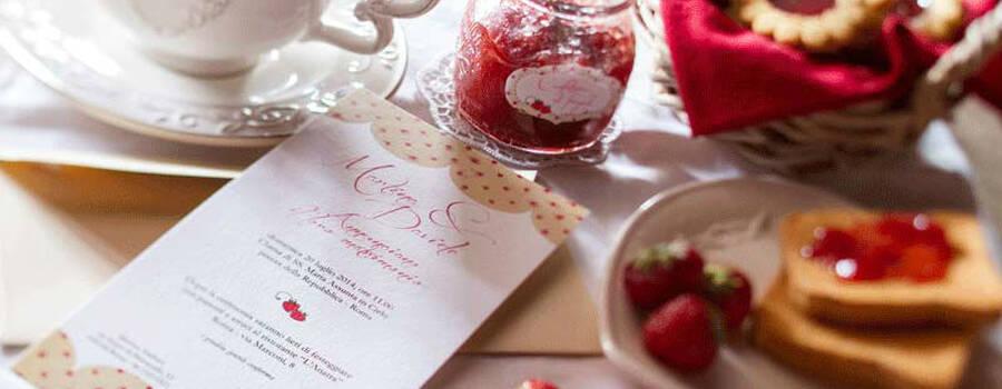 Partecipazione nozze Confettura