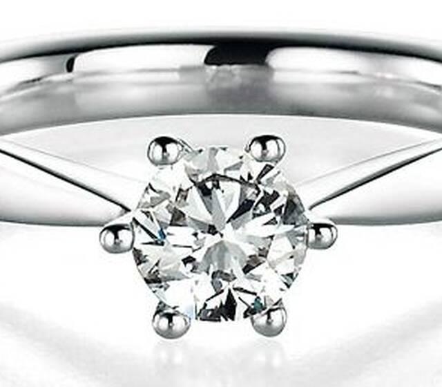 Beispiel: Diamantring, Fotos: European Diamonds.