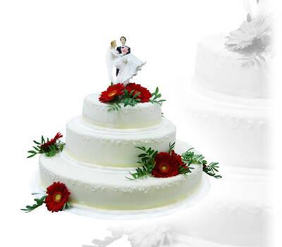 Beispiel: Hochzeitstorte, Foto: BLUNCK Pâtisserie Konditorei Chocolaterie.