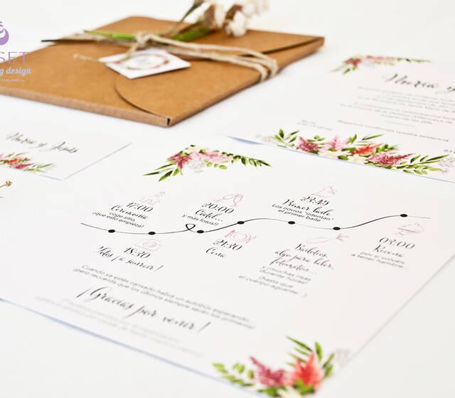 Giset wedding branding para bodas bodas invitaciones con timeline altavistaventures Image collections