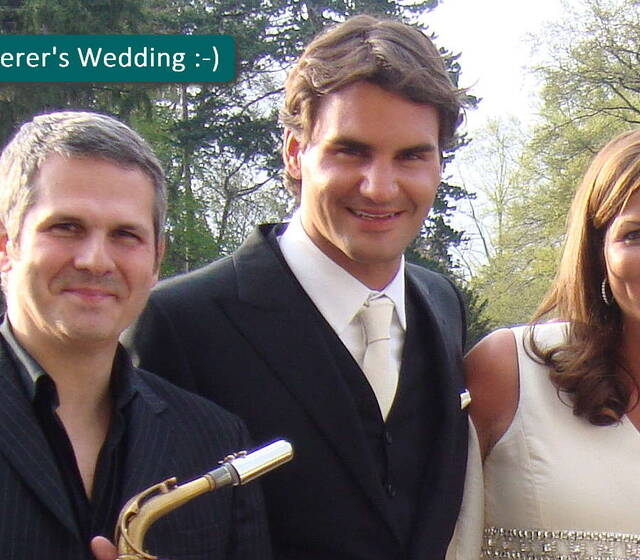 G-SAX @ Roger & Mirka Federer's Wedding