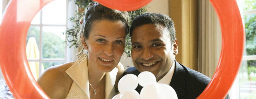 Beispiel: Ballonherz mit Tauben, Foto: Ballonmeister.