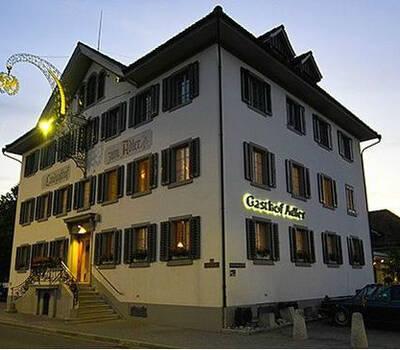Beispiel: Außenansicht, Foto: Landgasthof Adler Grüningen.