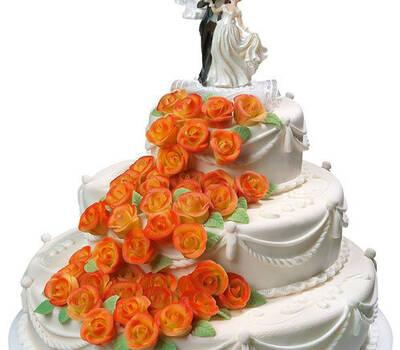 Beispiel: Hochzeitstorte, Foto: Confiserie Reichert.