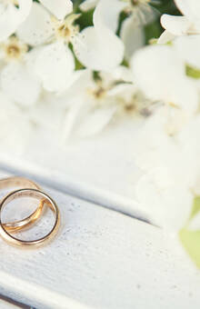 Beispiel: Eheringe, Foto: Romina Certa Weddings & Events.