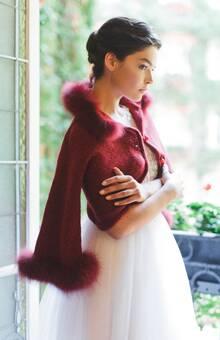 Болеро №5, бордо Editorial shoot for @wed_vibes Photo by @marymoon_iphoto MUAH by @ekaterina.mignery Model @ann_amelyanova #wed_vibes_shoot