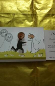 Convite Casamento Algo Natural