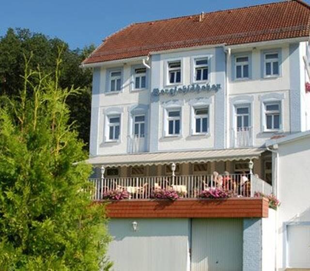 Beispiel: Aussenansicht, Foto: Waldhotel Bergschlösschen.