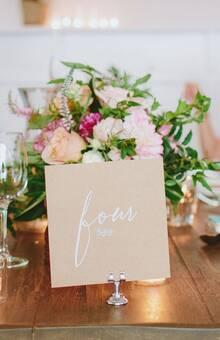 Наши подставки для карточек на одной из свадеб