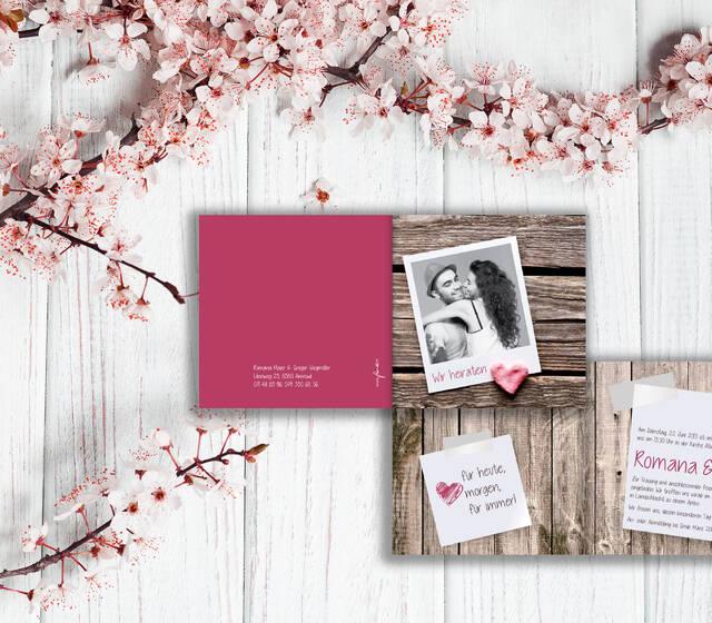 Hochzeitskarte von fuer-di.ch