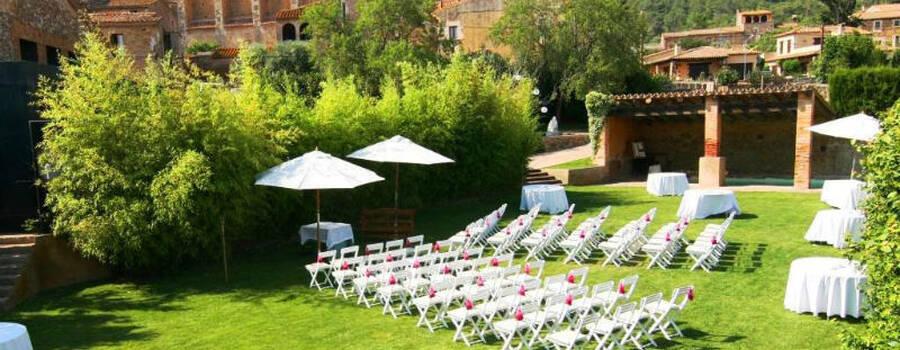 Montaje de la Ceremonia Civil en Nuestros Jardines