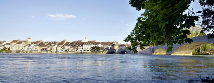 Blick auf den Rhein auf die Altstadt