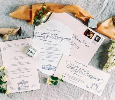 Letterpress Hochzeitspapeterie