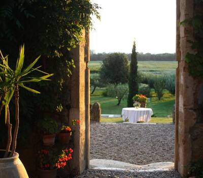 L'ouverture  vers les terrasses.