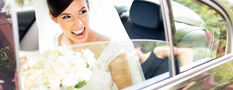 Emoção na chagada da noiva