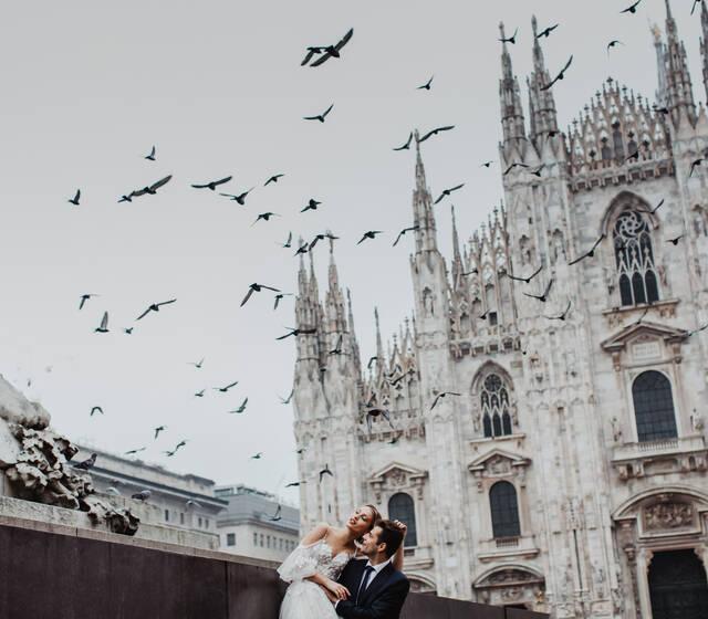 Свадебная фотосессия в Милане