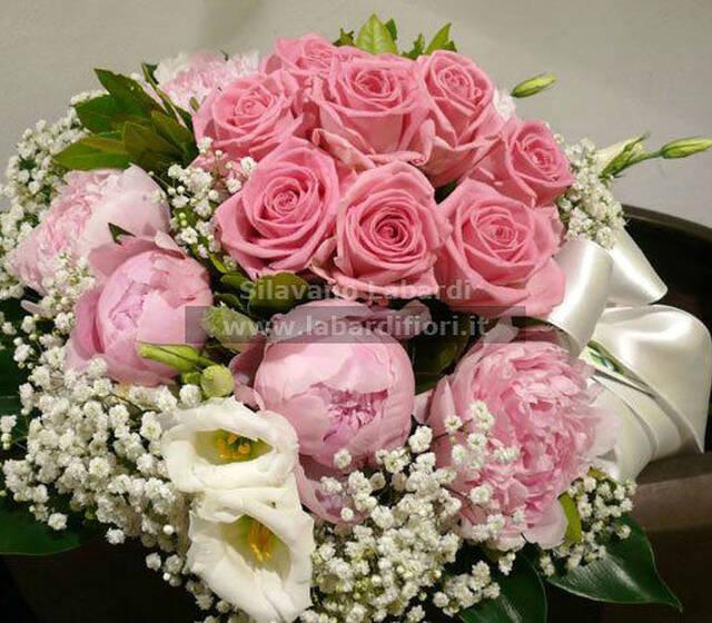 Labardifiori  bouquet rose e peonie