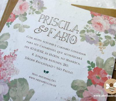 Coleção Floral - linha ecológica: Modelo Costurado G