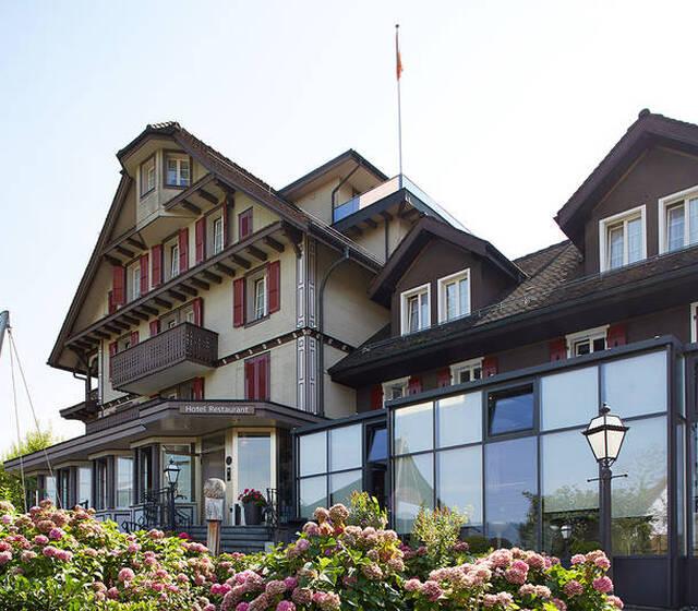 Beispiel: Aussenansicht, Foto: Hotel Waldheim Risch.