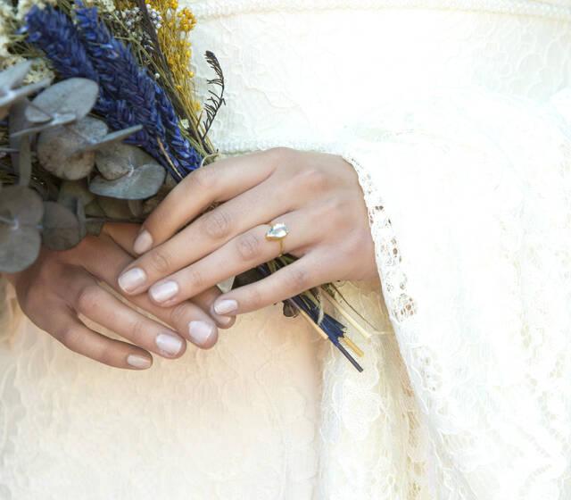 eme jewels - anillo de aguamarina hecho a mano