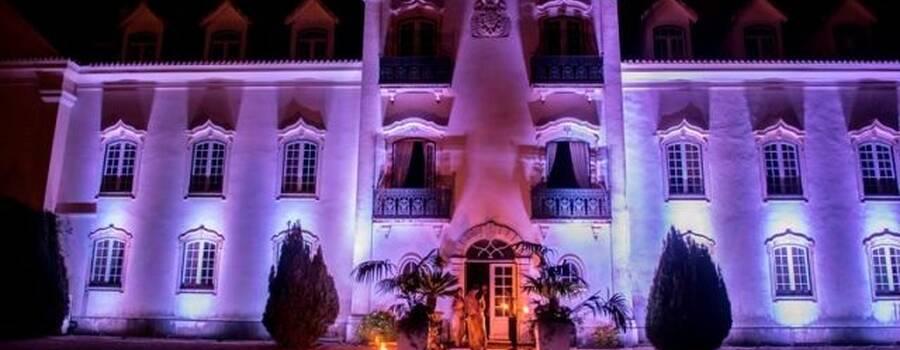 Iluminação fachada palácio Borralha