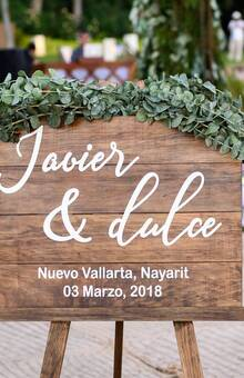 LETRERO PARA BODAS - RECEPCIÓN DE INVITADOS  **Diseños totalmente personalizados para tu boda!