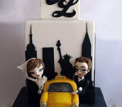 New York Wedding Cake