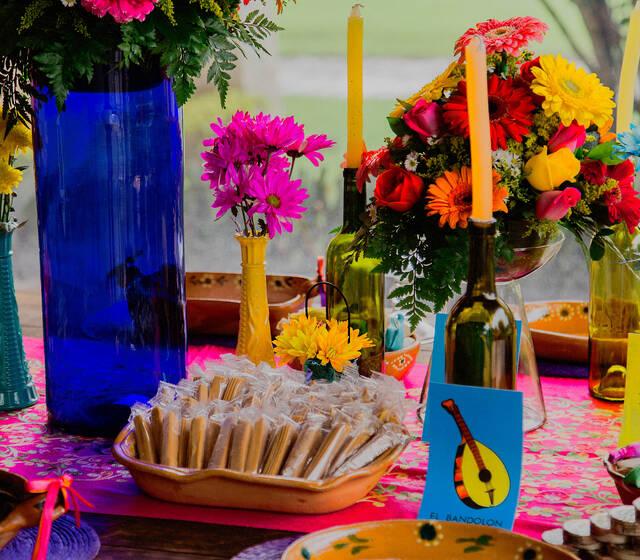 Mesa de dulces típicos