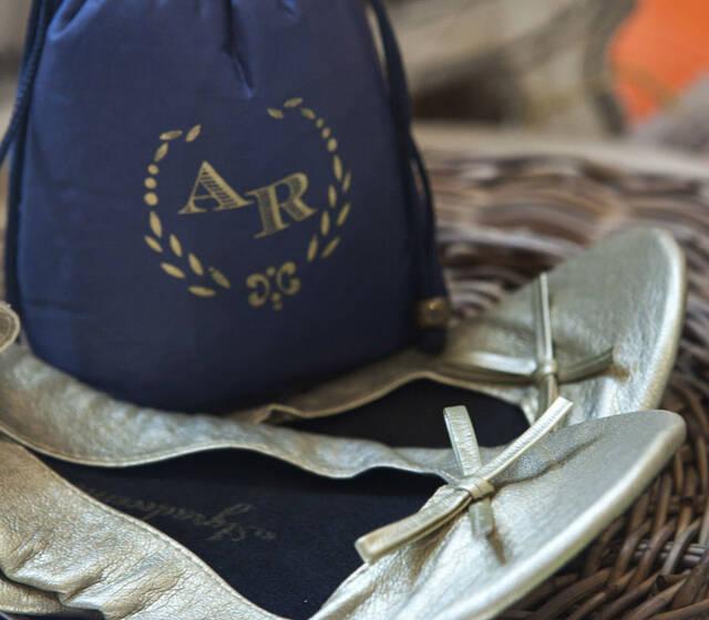 Sapatilhas para o conforto de suas convidadas