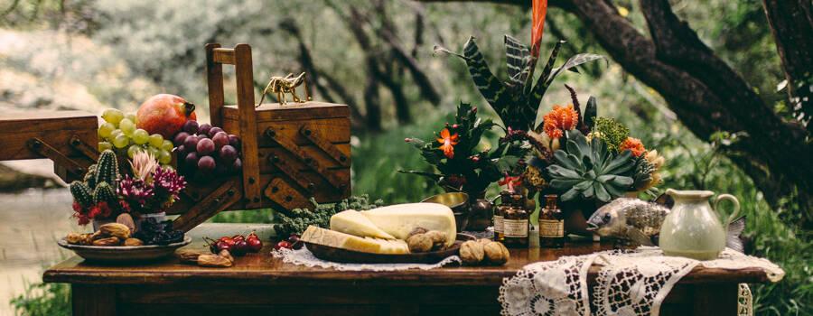 Decoración floral para la producción Amor Salvaje.