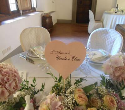 Particolare Tavolo Sposi - La Buona Tavola Catering&Banqueting Firenze