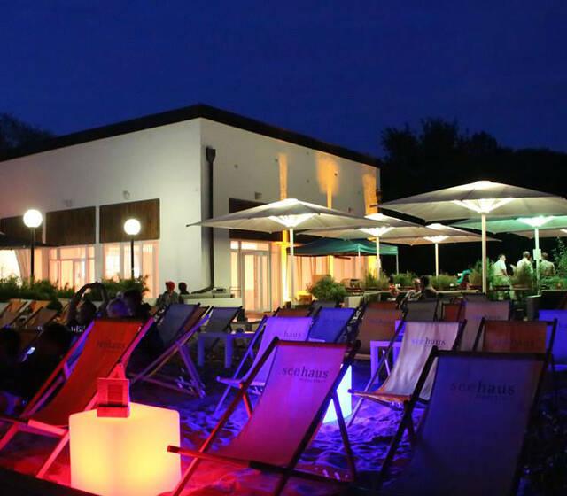 Beispiel: Terrasse bei Nacht, Foto: Seehaus Ingolstadt.