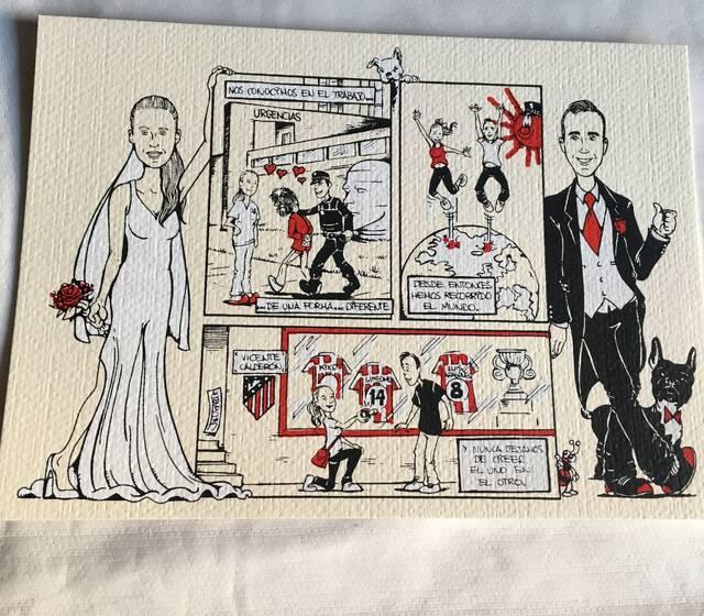 Invitaciones de boda originales y divertidas con el retrato (¡o la historia!) de los novios.