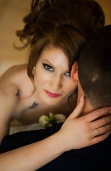 Brautpaar Fotos auf der Hochzeitsfeier