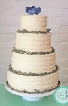 wedding cake con lavanda