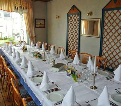 Beispiel: Tafel - Tischdekoration, Foto: Restaurant Prinzenquelle.