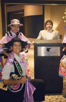 ELENCO DE DANZAS ALMA CRIOLLA CON EL HUAYLAS EN EL HOTEL MARRIOTS