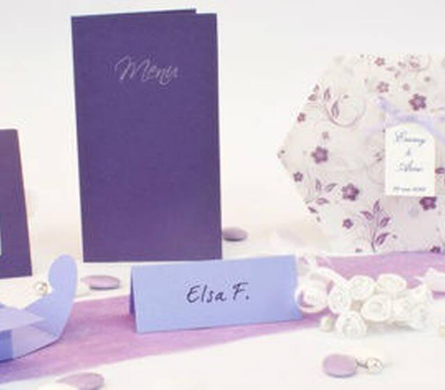 Beispiel: Hochzeitsset Seerose Lyon, Foto: Sweet Wedding Hochzeitskarten.