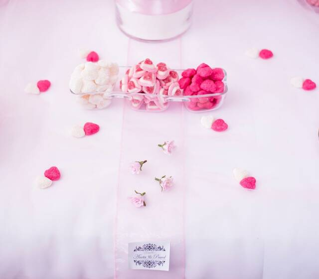 Słodki Stół Biało-Różowy