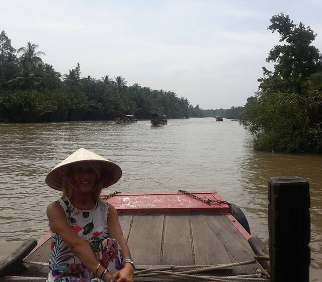 Navigando sul Mekong.Vietnam