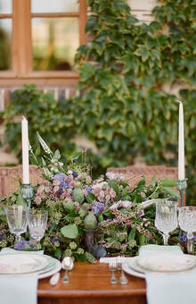 Place, Domaine de Sevis à Giverny Photography, GregFink Stationery, Styling, Design Momental Planning and Design, Fête in France Floral, L'arrangement Vaisselle, Vaisselle Vintage Sweets//@synies Gowns//@ppscouture @ivyandaster Film// @kevinsomethingwedding