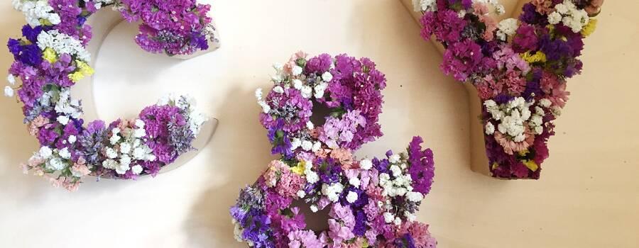 Letras con flores s