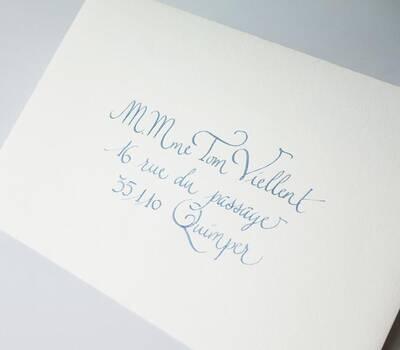 enveloppes calligraphiées ©Kahlieatelierdecalligraphie